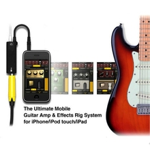 1/2pcs Rig Guitar Link Audio Interface System AMP Amplifier Guitar Effects Pedal Converter Adapter Cable for iPhone iPad iPod(China)