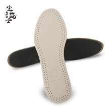 Genuine Cowhide Leather Insoles Deodorant Breathable Soft Sterilization Damping Insole Elastic Plantillas Zapato Shoe Insert