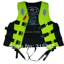 2016 most popular free shipping Yellow color waterproof Life vest life jacket professional swimwear fishing clothes adult child(China)