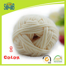 Jingxing, shanghai smb wool factory OEKO TEX quality, 10X100g pack, handcraft T shirt yarn 2cm ribbon spaghetti yarn