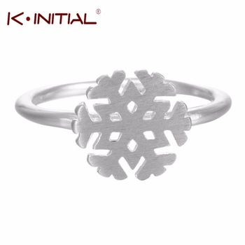 1Pcs 925 Sterling Silver Snowflake Rings For Women Simple Snow Openings Wedding Ring Fashion Finger Round Jewelry Accessories