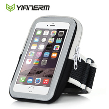 Yianerm Universal Arm Band Bag for iphone5 6 6plus meizu xiaomi samsung 4.7 Inch/5.5 Inch Zipper Running Sports Arm Bag case(China)