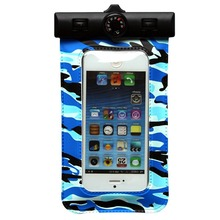 Camouflage Super Sealing Waterproof Bags with Compass Lanyard Arm Belt for Mobile Phones Transparent PVC Pouch Waterproof IPX8