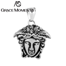 2017 Men's Silver Medusa Pendant 39*28mm 316L Stainless Steel Pendant The Banshee of Greek Mythology Fashion Jewelry Pendant DIY