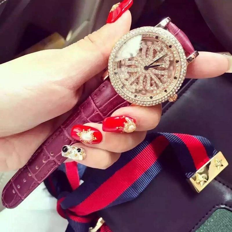 2017 new Retro design full diamond top brand watch women luxury famous ladies quartz wristwatches<br>