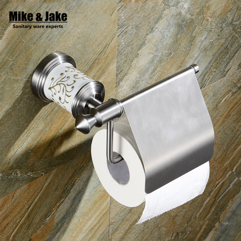 SuS 304 Bathroom paper holder Accessories Products Solid brush nickel  Toilet Paper Holder,Roll Holder,Tissue Holder 82656<br>