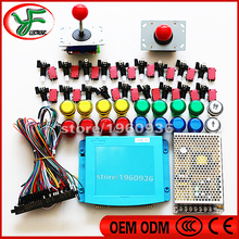 DIY arcade cabinet kit Jamma Arcade 645 in 1 PCB Wire harness power supply joystick button for arcade game kit JAMMA MAME