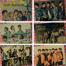 COSY MOMENT GOT7 Photos Vintage Poster Music Bar Cafe Bedroom Home Wall Decoration Kraft Paper Painting Poster For Fans QT391