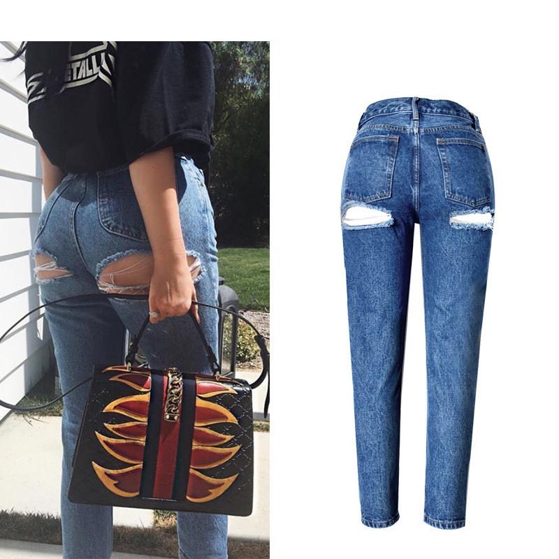 Super Sexy Bu Ripped Hole Jeans Slim Fit Women Jeans High Waist Exposed Hips Fashion Denim Women Boyfriend Skinny Jeans Femme (10)