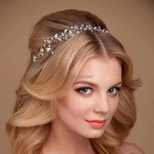 Hair Jewelry Summer Bridal Hair Tiara Head Piece Rhinestone Hair Pin Crown Headband-W128
