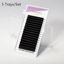 5cases D curl,0.2mmT,10mm -14mm high-quality eyelash extension mink.natural eyelashes individual eyelash extension(China)