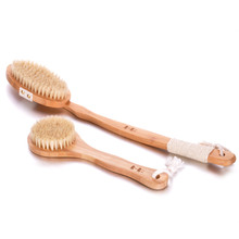 2017 Hot Sale Top Fashion Bristle Hand Eco-friendly Long Bath Brush Bristles Soft Mud Rub Back Towel Brush Cleaner Cleaning