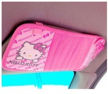 Hello Kitty Car Cd or dvd cover Cd Clip car visor CD holder Hello Kitty Styling car Interior auto accessories