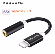 Buy 3.5mm Earphone Headphone Audio Adapter ACCGUYS Lighting 3.5mm Jack Audio Converter Cable iPhone 7 plus 8 plus iPhone X for $8.47 in AliExpress store