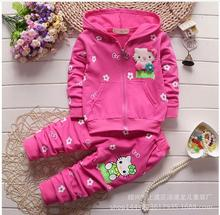 2016 New Autumn Baby Girls Clothes Set hello kitty Toddler Girl Clothing Set Long Sleeve T shirt +pants set /babys Girl Clothes