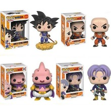 Funko Pop Janpa Anime Dragon Ball Sun Goku + Kuririn PVC Action Figures Collection Model Toys Boys Gifts Decorations Hot Sale
