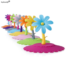 Keythemelife 9.5cm Cute Sunflower Anti-dust Silicone Glass Cup Cover Coffee Mug Suction Seal Lid Cap Lovely Cup Cover 5 Colors D