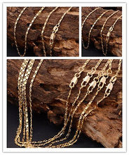 Chunky Chain Necklace Choker 22Inch  Solid Yellow Gold Filled