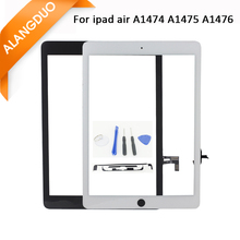Tablet Touch Panel White Black Color For ipad Air Touch Screen Digitizer +Flex Cable for ipad air 5 5th Generation Front Sensor