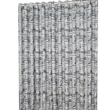 Brown/Gray English Newspaper Pattern Printed Thermal Insulated Curtains for Bedroom