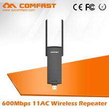 Comfast wireless usb3.0 Wifi Repeater 600M Dual Band 5G Wifi Booster Antenna wifi extender 802.11AC wifi Router signal Amplifier(China)
