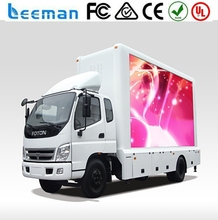 Leeman led mobile truck for sale P10 advertising mobile truck led display/led screen With New Technology wifi bluetooth led