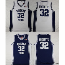 Jimmer Fredette Brigham Young Retro Throwback Stitched Basketball Jersey Sewn Camisa Embroidery Logos