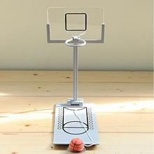 Desk Office Desktop Basketball Shooting Game Toy for Kids Children Kids Metal And ABS Stress Ball Grey