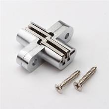 MTGATHER 304 Stainless Steel Hidden Hinges Invisible Concealed Cross Door Hinge Bearing 20KG With Screw 13x45MM Best Price(China)
