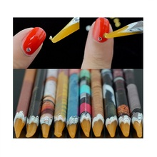 Recommend Contact Supplier Chat Now! Wax Rhinestones Picker Pencil DIY NAIL ART Design Picking Beads Tool(China)