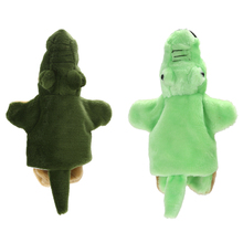 1 Pc Lovely Crocodile Plush Hand Puppet Kids Children Developmental Soft Doll Toy Gift 2 Colors For Choose