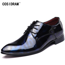 COSIDRAM Men Formal Shoes Pointed Toe Business Wedding Patent Leather Oxford Shoes For Men Dress Shoes Plus Size 49 50 RME-321(China)