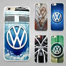 Volkswagen vw bus Hard White Cell Phone Case Cover for Apple iPhone 4 4s 5 SE 5s 6 6s 7 Plus