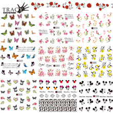Trancy Simple 1X Nail Water Transfer Sticker Set Art Decoration Promotion Decal Fashion Tip Women Girl Watermark TRA291-531