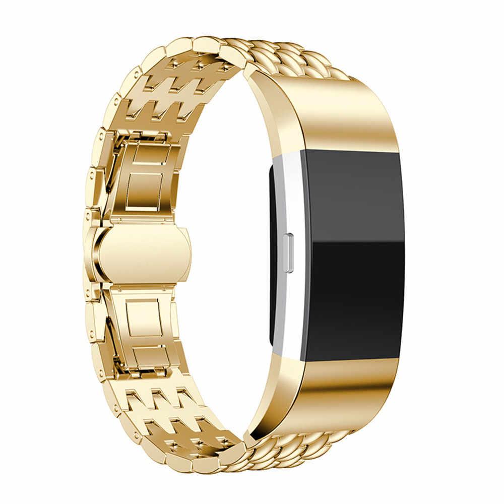 Сменный металлический браслет для Fitbit Charge 2, ремешок из нержавеющей стали, браслет для Fitbit Charge 2, ремешок, Смарт-часы, браслет