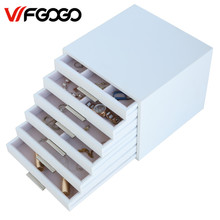 WFGOGO Custom Wooden Jewelry Makeup organizer E0 E1 MDF Storage box Beautiful Design box Jewelry for display,Support OEM & ODM(China)
