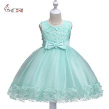 MUABABY Flower Girls Dresses Sleeveless Tulle Lace Princess Party Wedding Dress Baby Kids Tutu Dress Summer Toddler Ball Gown