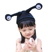 MUQGEW Cute Baby Toddler Insect Eye Antenna Pattern Knitted Winter Warm Hat Cap Insect eye large child knit hat baby cap