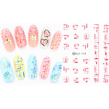 1 Pc Manicure Watermark Sticker Decal Sticker DLS105-116 Korea Manicure Nail Sticker