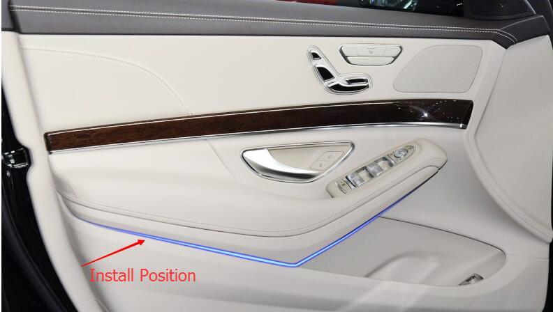 car interior door molding trim for Mercedes Benz S Class accessories (7)