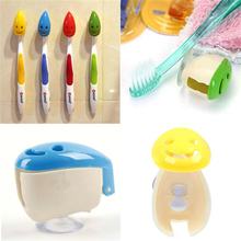4X Portable Home Bathroom Smile Face Toothbrush Holder Cover Case Suction Cup(China)
