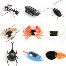 Solar Ant insect Kids Cockroach Toys Magic Solar Powered Ant Insect Play Learn Educational Solar Novelty Toys for Children Gift(China)