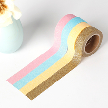 20colors Bright color Washi tape Multicolour solid color Paper Sequins washi tape DIY decorative masking adhesive label sticker(China)