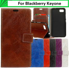 EiiMoo Mobile Phone Case For Blackberry Keyone Case Leather Wallet Horse Skin Flip Back Cover For Blackberry Keyone Case Cover(China)