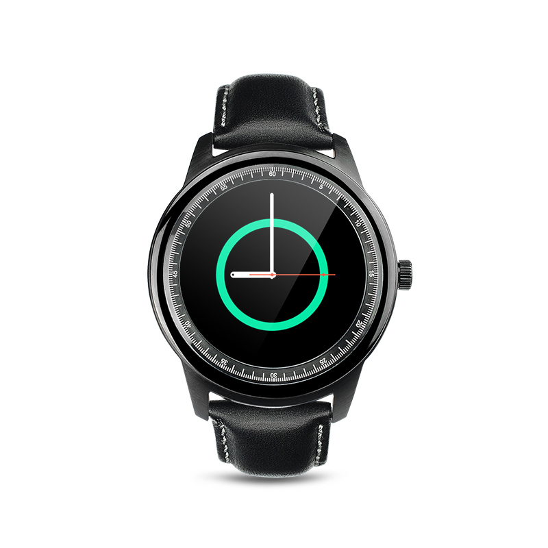 PARAGON Full Round Smartwatch M365 Genuine Leather Sleep Monitor fitness android smart watch heart rate monitor dz09 u8 moto360<br><br>Aliexpress