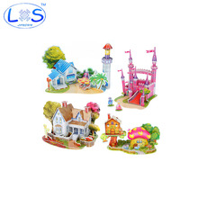 New 3 d three-dimensional jigsaw puzzle selling houses castle building educational model toys Children's toy