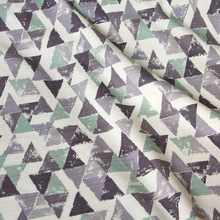 50cm*110cm Japanese Patchwork Soft Textured Cotton Fabrics Barkcloth Fabric for sewing Triangles C(China)