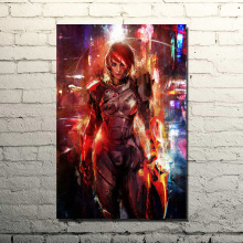 Mass Effect 2 3 4 Hot Shooting Action Game Art Silk Poster Print 13x20inches Wall Pictures For Bedroom Living Room Decor 019(China)