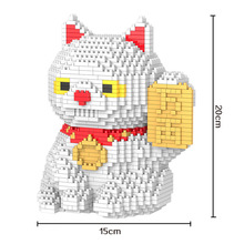 Bevle HC 9028 1616Pcs Fortune Cat  Cartoon DIY Magic Blocks Diamond Building Block Toys Compatible with Lepin