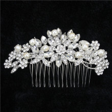 Acessories Para Cabelo Clips For Hair Fashion Luxury Metal Rhinestone Wedding Bridal Comb For Party Accessories